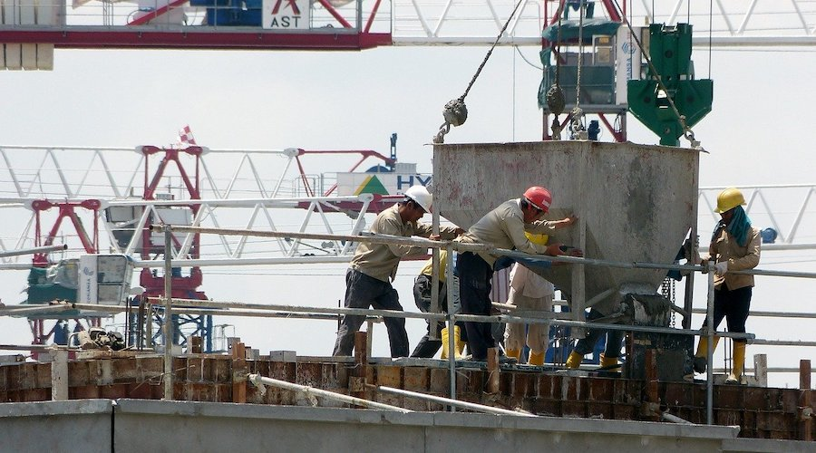 Preparation and organisation of a construction site